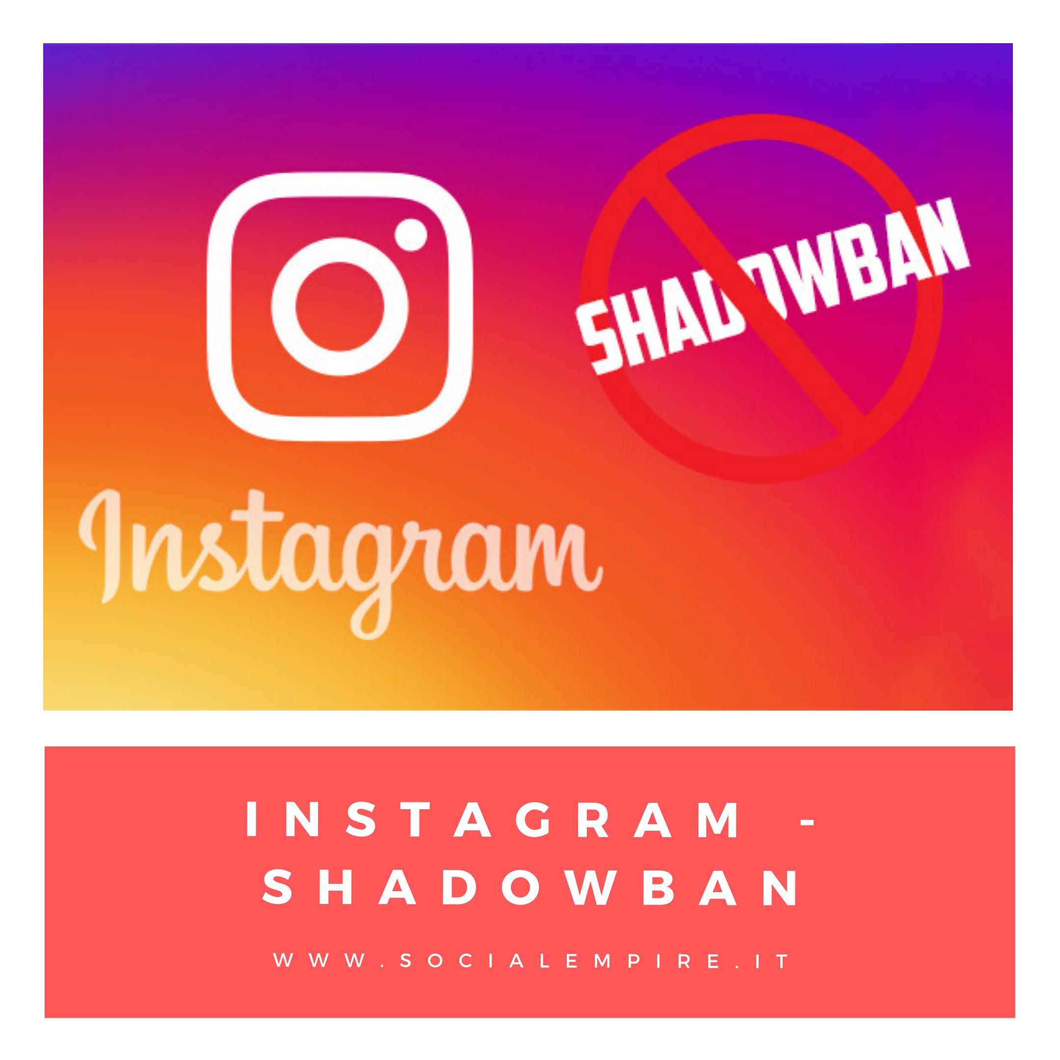 Instagram shadowban