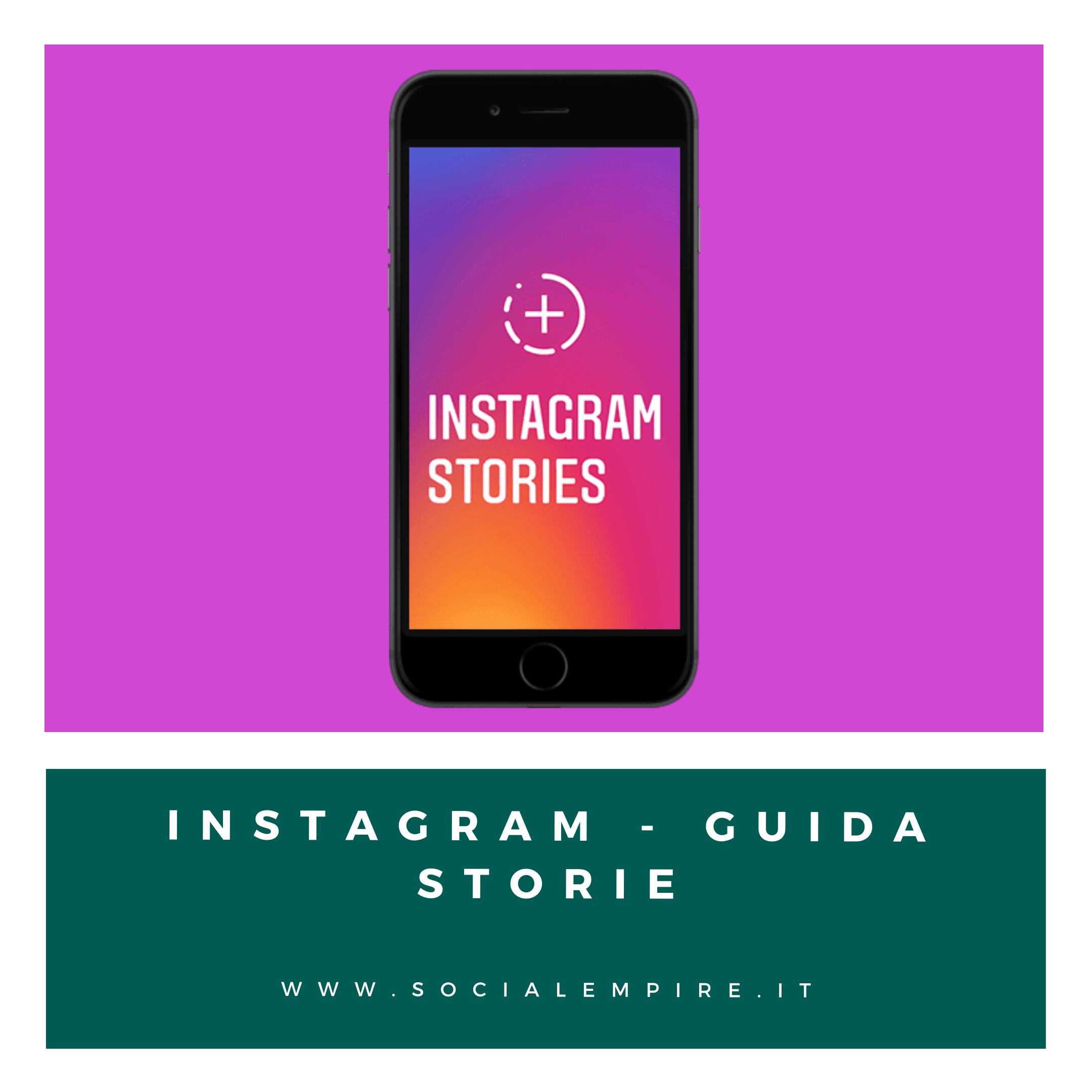 Guida Instagram Storie