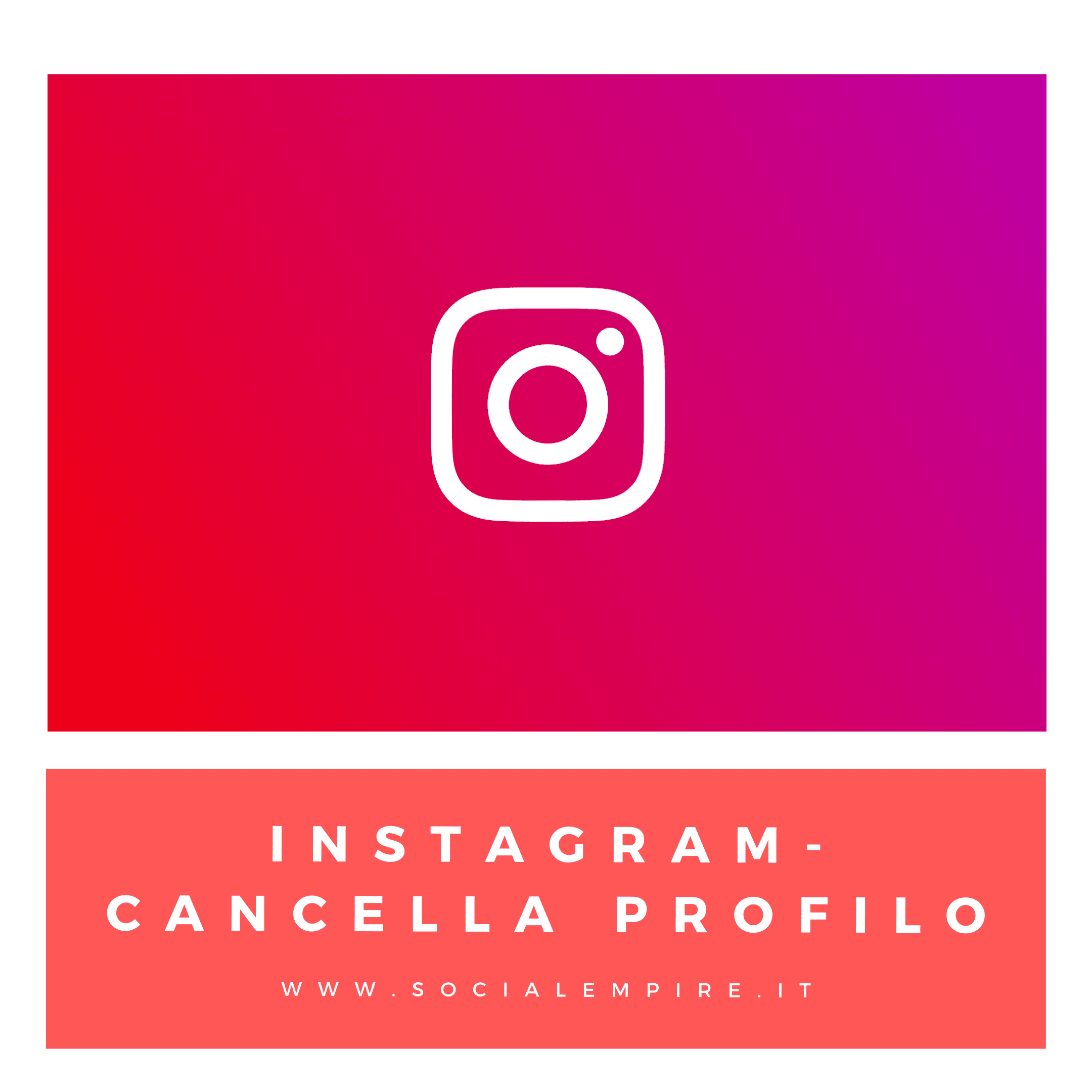 instagram come cancellare account