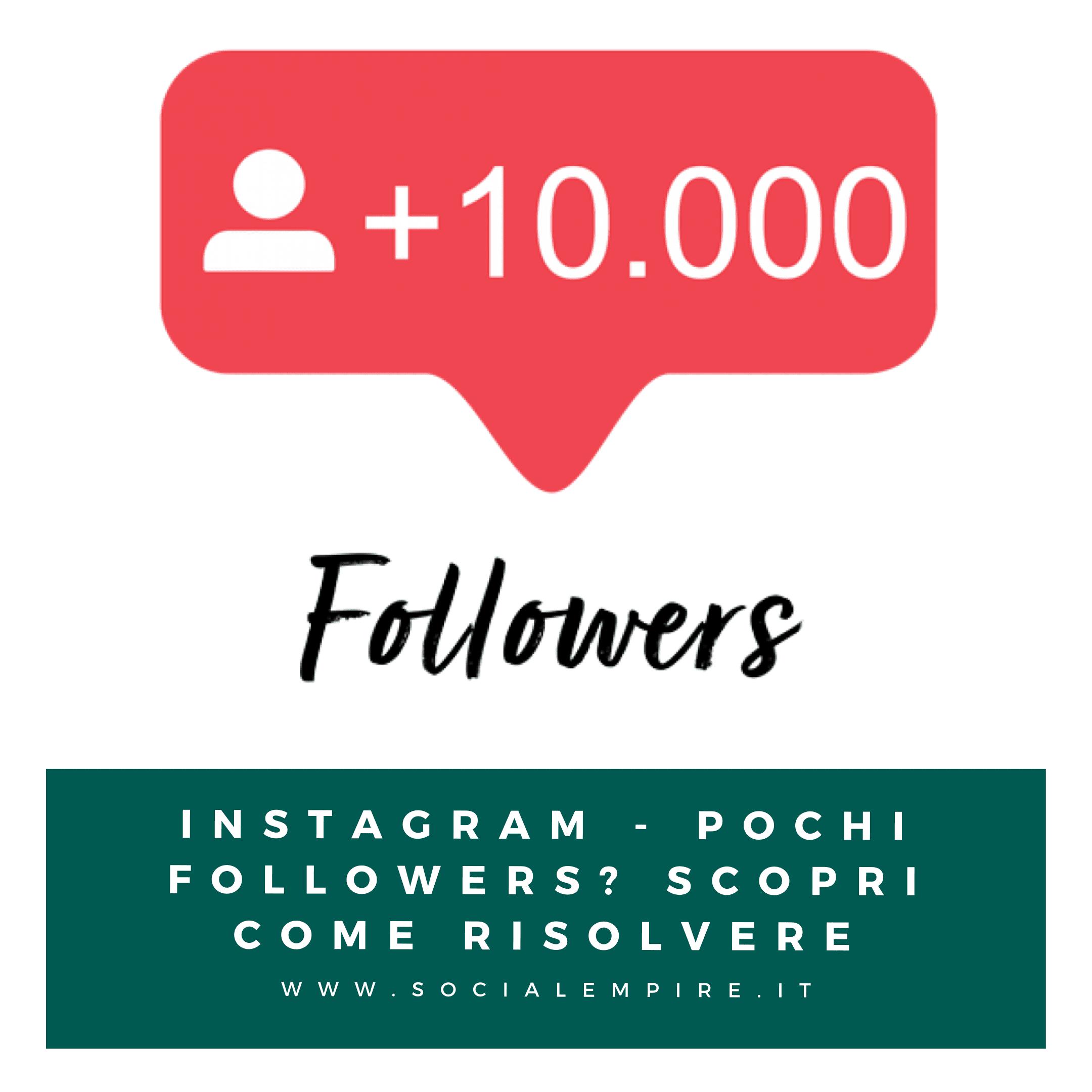 Pochi follower su Instagram