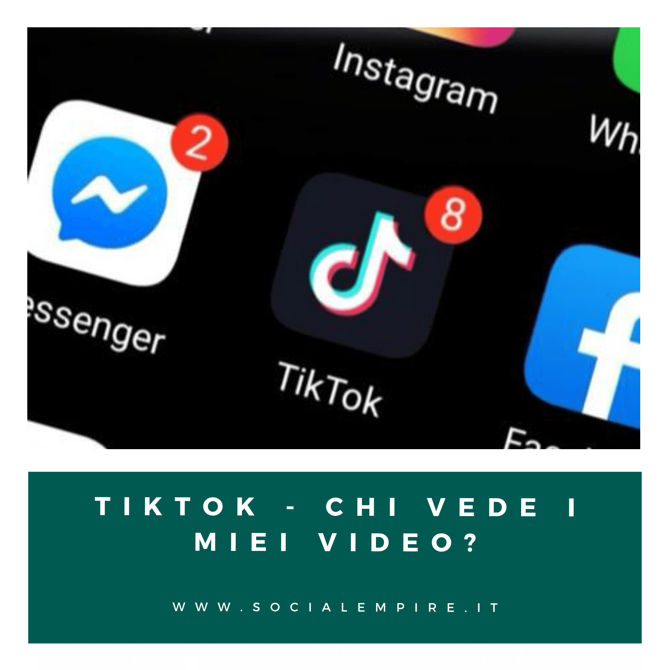 tiktok chi vede i miei video