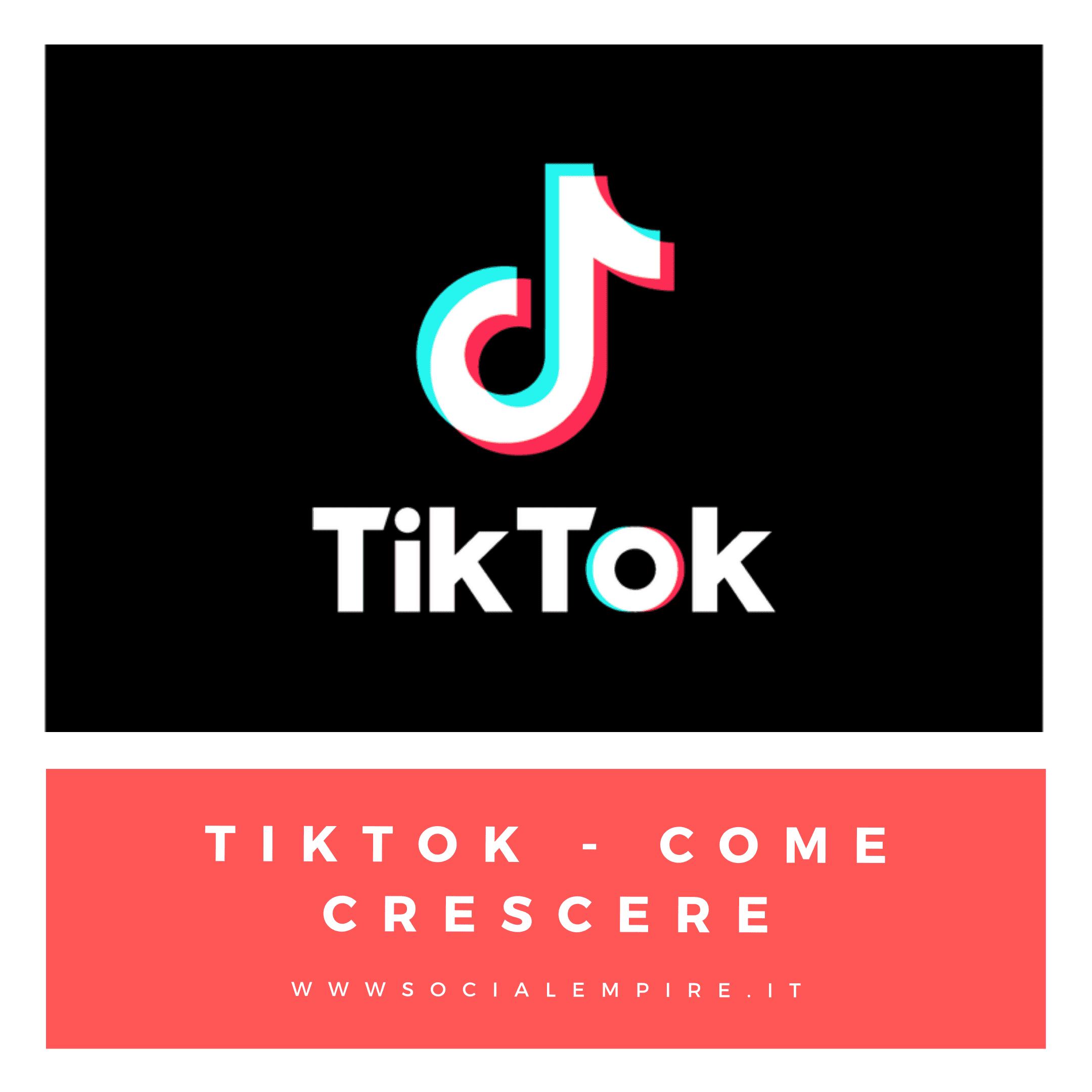 TikTok come crescere ed aumentare i follower