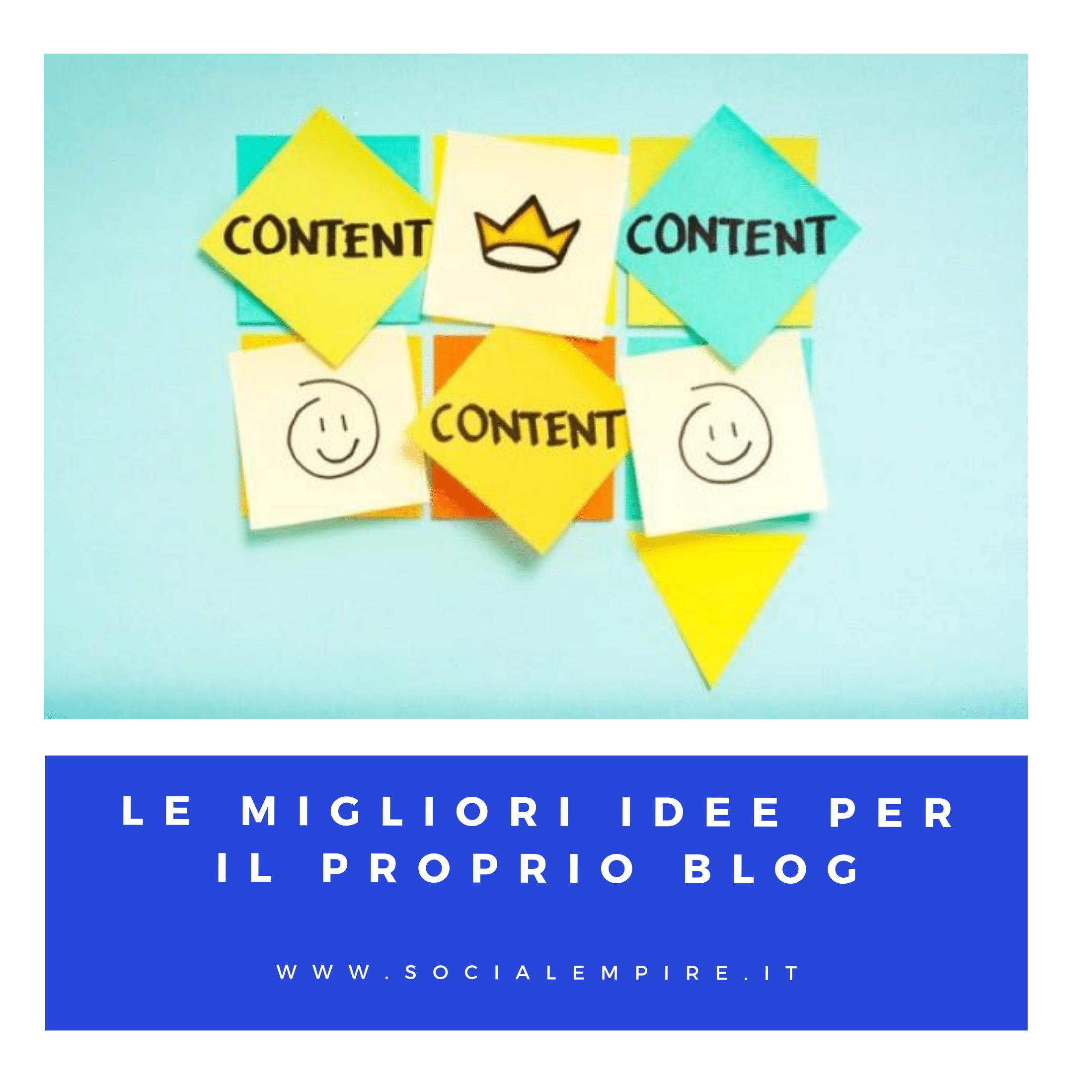 idee contenuti