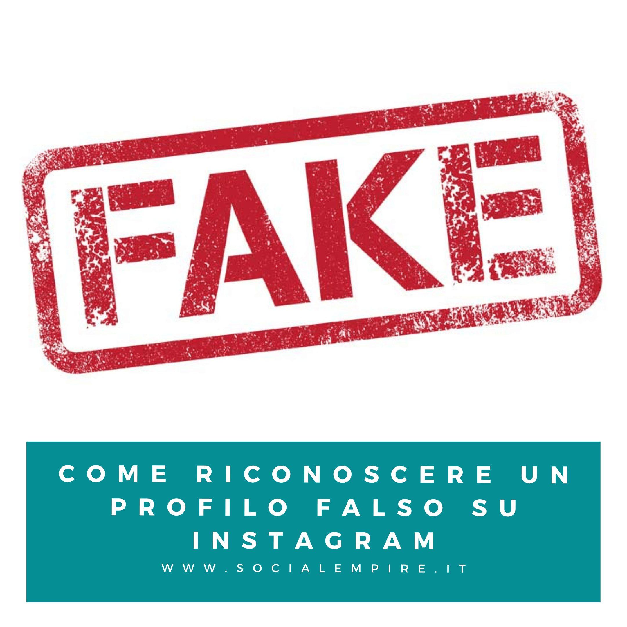 Come riconoscere un profilo fake su Instagram