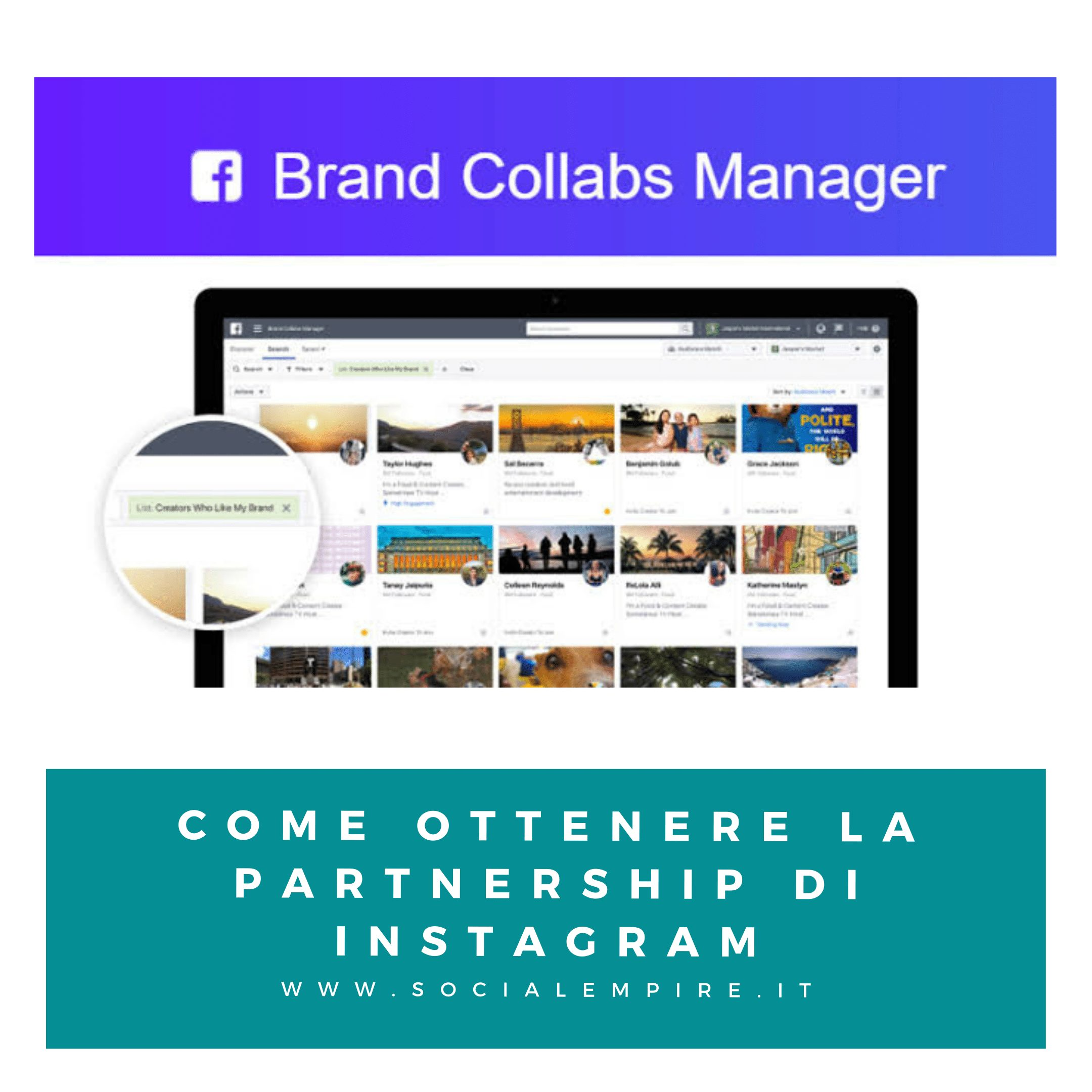 Brand Collabs Manager Instagram