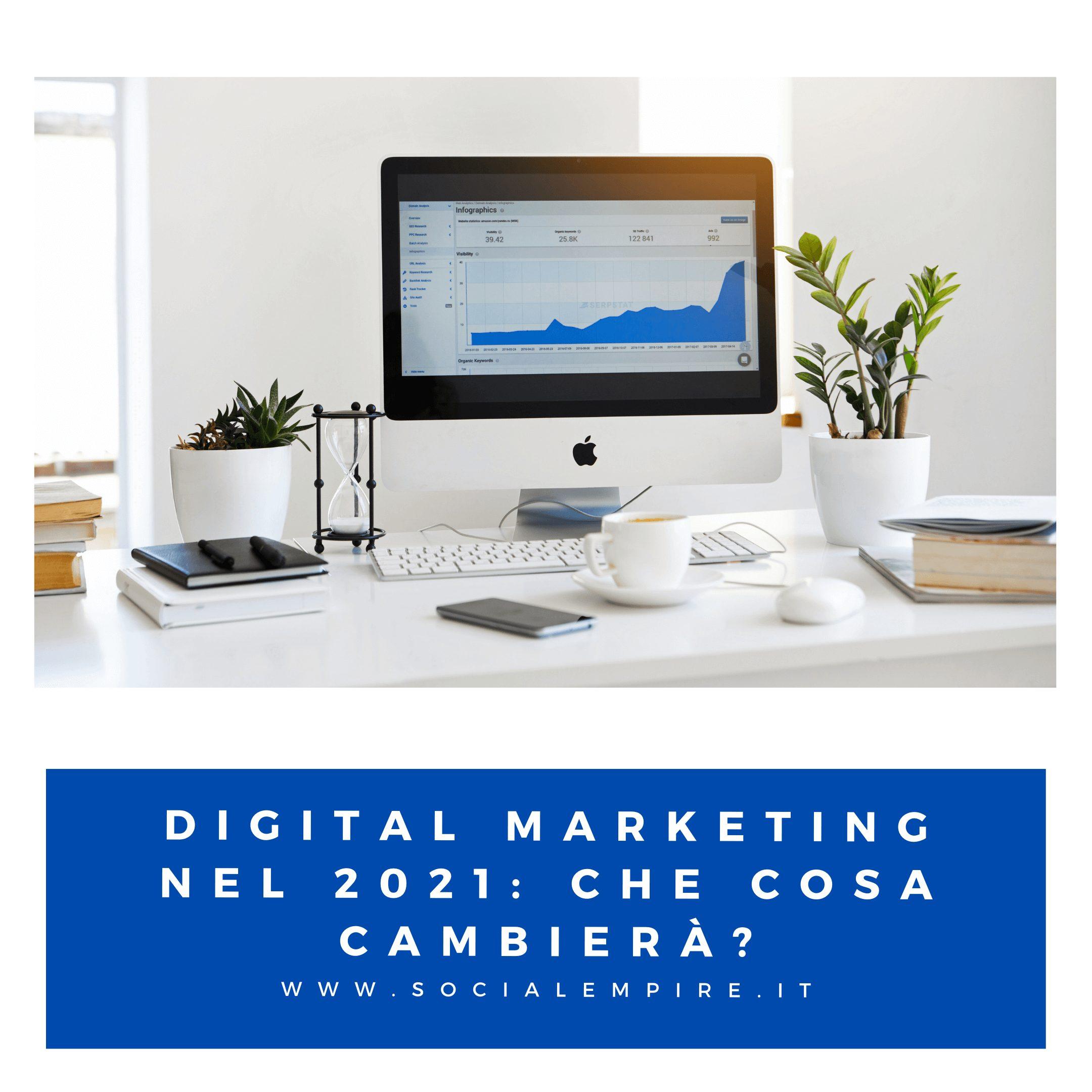 Digital Marketing nel 2021: Che cosa cambierà?
