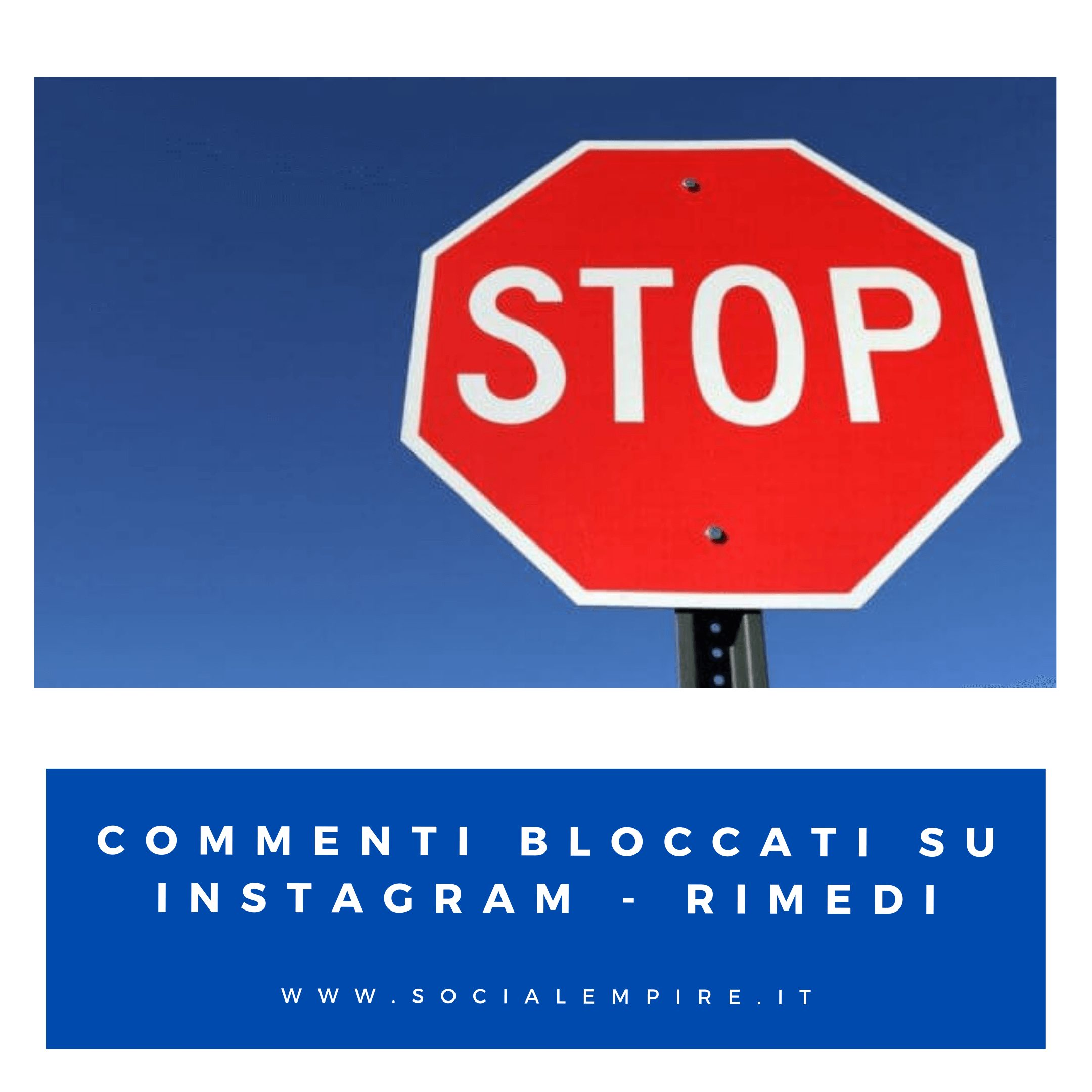 Commenti bloccati su Instagram